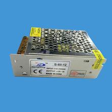 [Seven Neon] высокое качество мини-размер DC12V 5A 60 Вт адаптер питания для светодиодных осветительных приборов