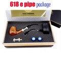 1 Unidades E Tubería 618 Cigarrillos Electrónicos 1200 Inhalaciones Anticuado Vapor E Pipa De Madera kit sin la batería 18350