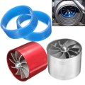 Nueva Universal Car Fuel Gas Saver Supercharger Para Turbina Turbo Cargador de Turbo Fan Ingesta de Ahorro de Combustible Filtro De Aire Aumento