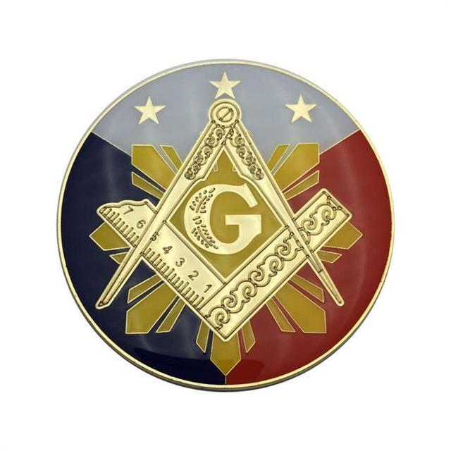 High Quality 3 25 Zinc Alloy Soft Enamel Philippines Masonic Auto