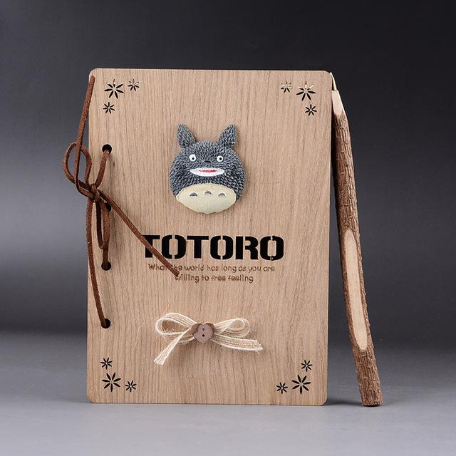 Studio Ghibli TOTORO Wooden Cover Notebook