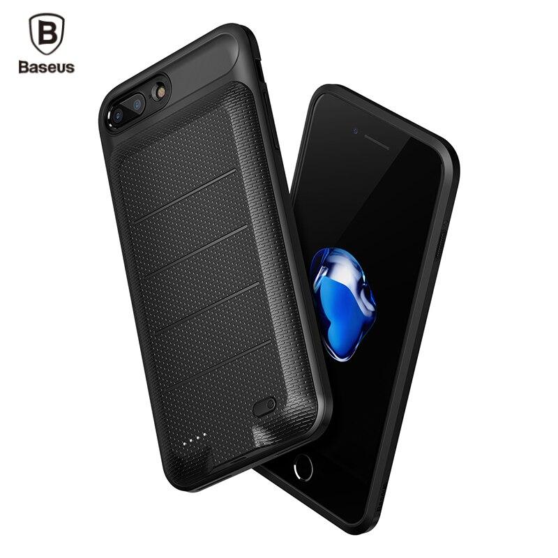 Baseus Cas Chargeur de Batterie Externe Pour iPhone 8 7/8 7 Plus 2500/3650 mAh Portable Banque Power Pack Batterie De Secours de Couverture de Cas