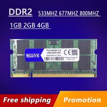Venda ddr2 1gb 2gb 4gb 667 800 533 mhz 667mhz 800 PC2-5300S PC2-6400S 2g 4 memória ram do sdram g sodimm para laptop e notebook