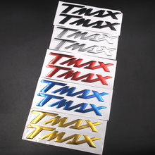 "Motorcycle Emblem Badge Decal 3D Tank Wheel Logo ""TMAX"" Sticker For YAMAHA TMAX530 500 Silver Black Red Blue Gold(China)"