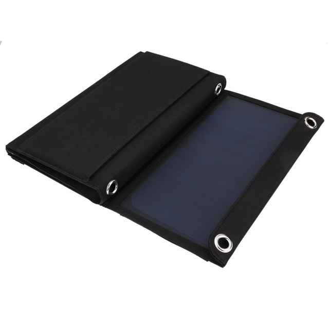 21W 2 MIC Ports Solar Powered Sun Light Charger With USB 5V Output Solar Panel Battery Charger for iphone Android