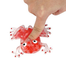 Novelty Bead Stress Ball Sticky Squeeze Frogs Anti-Stress Autism Relief Toy Children Gifts Home Decorations Craft Miniatures(China)