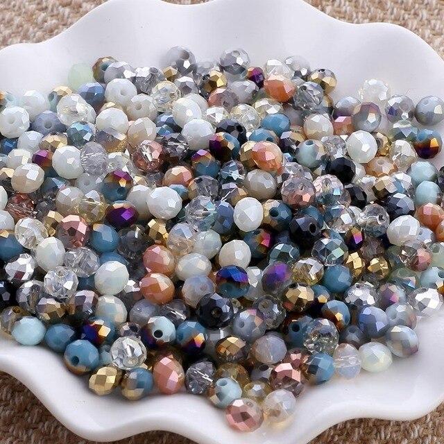 BEAUCHAMP en gros 2mm minuscule cristal tchèque perles Rondelle forme à facettes perles bricolage gland boucle doreille Bracelet résultats de bijoux
