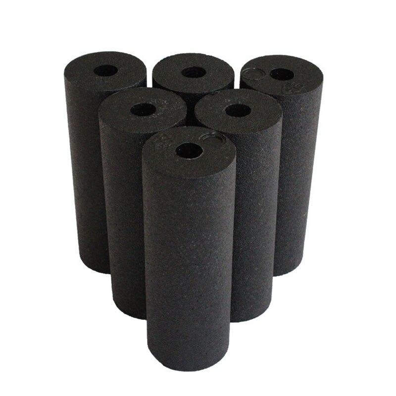 1pcs EPP Hollow Yoga Column Foam Roller Blocks Massage Yoga Ball Gym Pilates Yoga Exercise Fitness Equipment Black