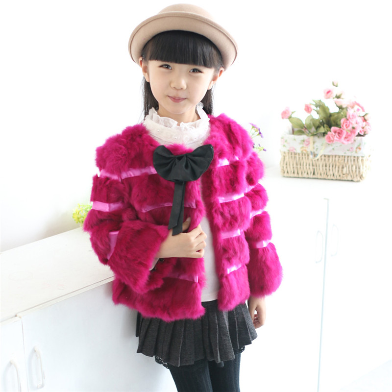 New 2016 Fashion Children Rabbit Fur Coat Autumn and Winter Baby Girls Short Warm Thick Fur Outerwear Jacket Clothing Baby Coat meetbud new arrival winter autumn outwear children clothing baby girl jacket fashion fur coat casual cotton girls kids outerwear