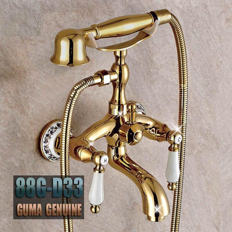 European Phone Handle Shower Head Antique Bathroom Faucet Water ...