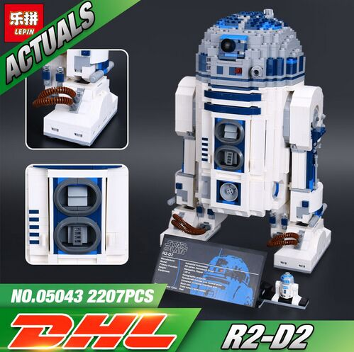 Lepin 05043 2127Pcs New Genuine Star War Series The R2-D2 Robot Set Out of print Building Blocks Bricks Toys 10225 rollercoasters the war of the worlds