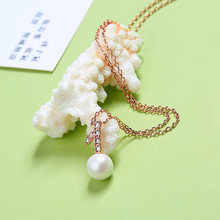 Simple Clavicle Chain Imitation Pearl Necklace & Pendants Korean Fashion Minimalist Leaf Choker Necklace Wedding Jewelry In Box(China)