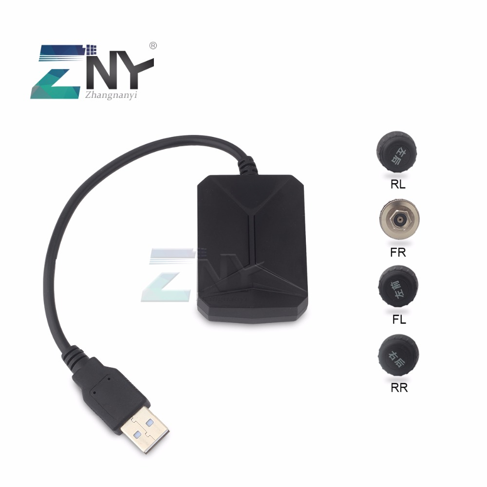 US $119 0 |ZNY Wireless Tire Pressure Monitoring For Android Car Player  Bluetooth / USB TPMS Auto Alarm System With 4 Sensors-in Tire Pressure  Alarm
