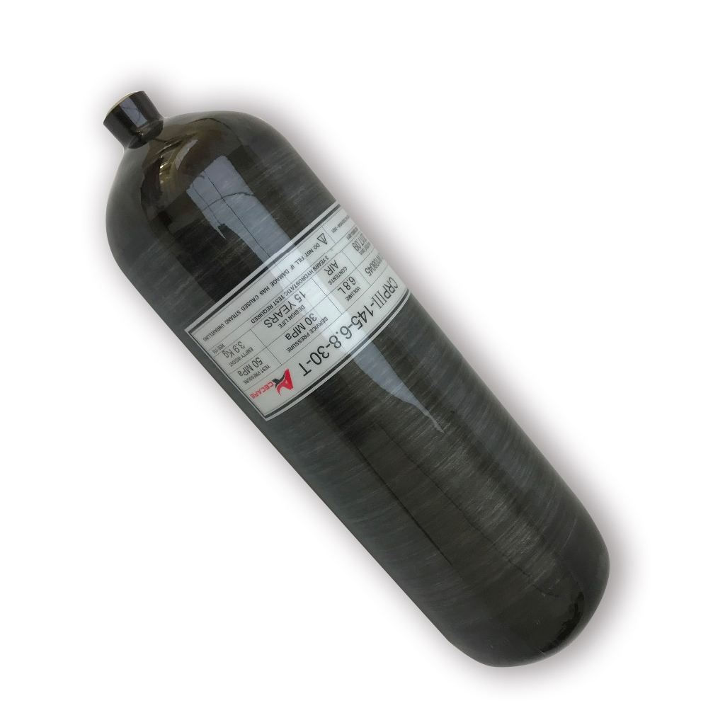 AC3680 Pcp Rifle 6.8L Black Bottle Air Gun Paintball Condor Oxygen Tank Carbon Fiber Cylinder Shooting Target Softgun Acecare