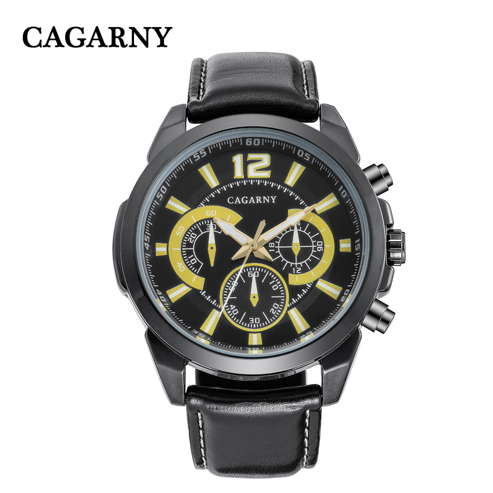 free shipping quartz wristwatches leather strap sports watches casual mens wrist watch black case (5)