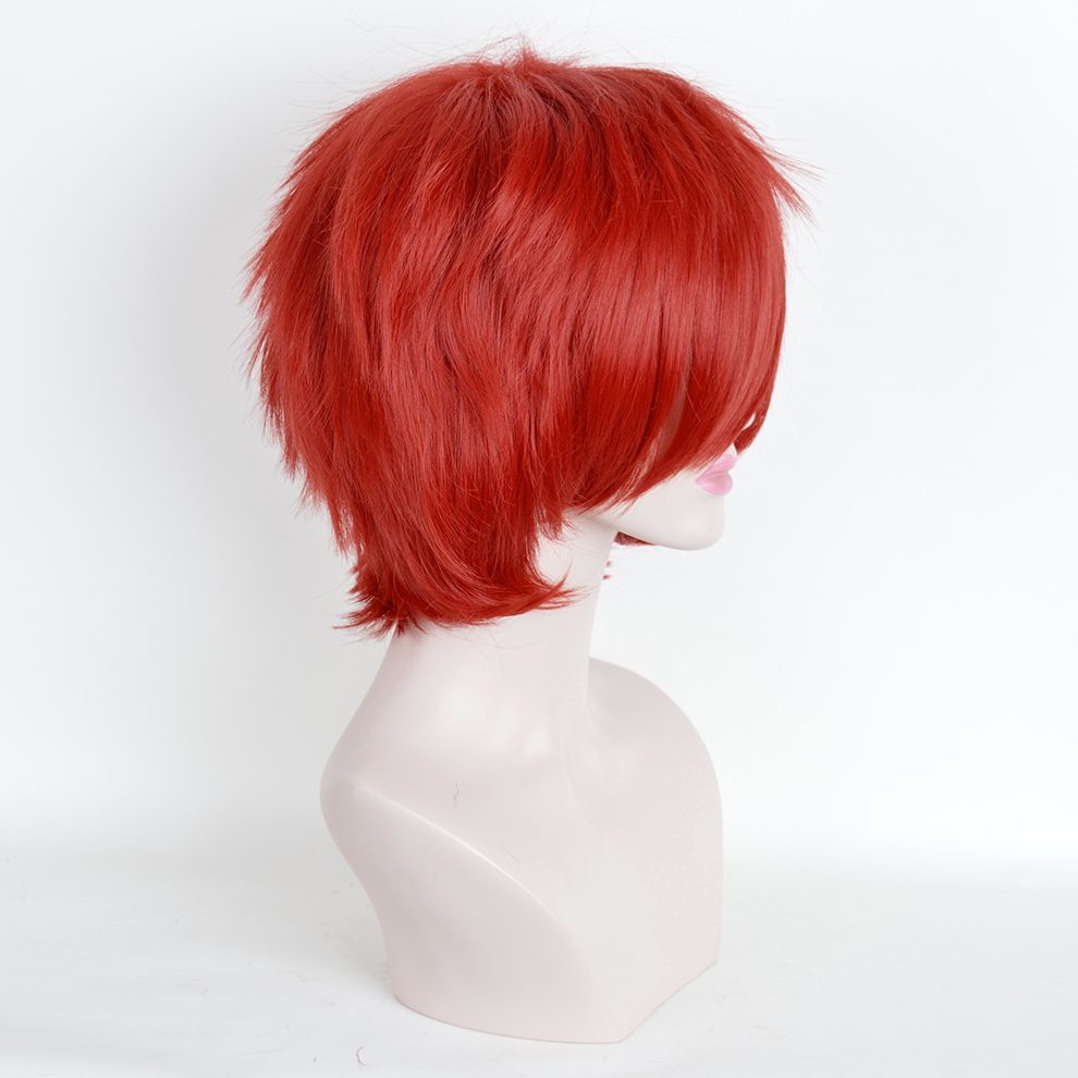 32cm Red Short Straight Haircuts Anime Akashi Seijuro Cosplay