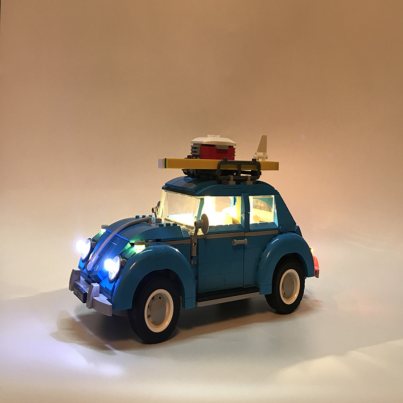 Led Light Set For Lego technic 10252 City Car Beetle Model Compatible 21003 Blocks Toys technic Car Beetle Lighting Set lepin 21003 series city car beetle model building blocks blue technic children lepins toys gift clone 10252