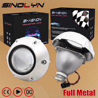 Upgrade Full Metal 2 5 Inch MH1 Pro Leader HID Bi Xenon Projector Headlight Lens Headlamp