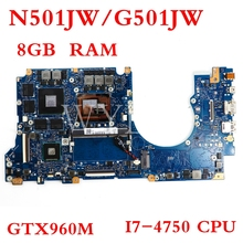 N501JW motherboard GTX960M I7-4750CPU 8GB motherboard For ASUS G501JW N501JW UX501J G501J UX50JW FX60J Laptop mainboard i7 7500 8gb gt940m rev 3 1 3 0 ddr4 x556uv x556uqk motherboard for asus x556u x556uj x556uf x556ur laptop motherboard mainboard