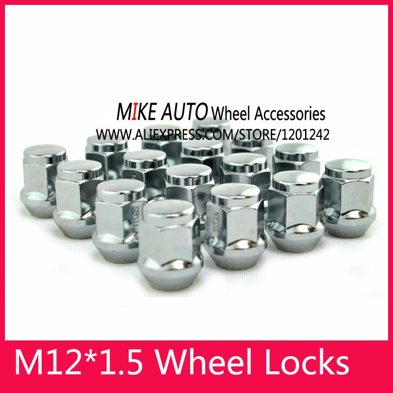 16 x Alloy Wheel Nuts M12 x 1.5 19mm Hex for Ford Focus