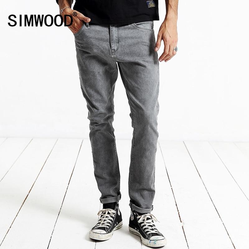 SIMWOOD 2019 New Spring Winter   Jeans   Men Fashion Denim Pants Slim Fit Robin Trousers SJ6062