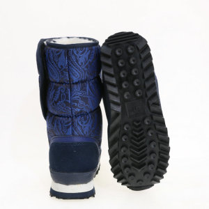 Image 3 - Blue boots dark colour lady shoes winter warm insole snow boot size big nice looking fabric upper Rubber and EVA outsole no slip