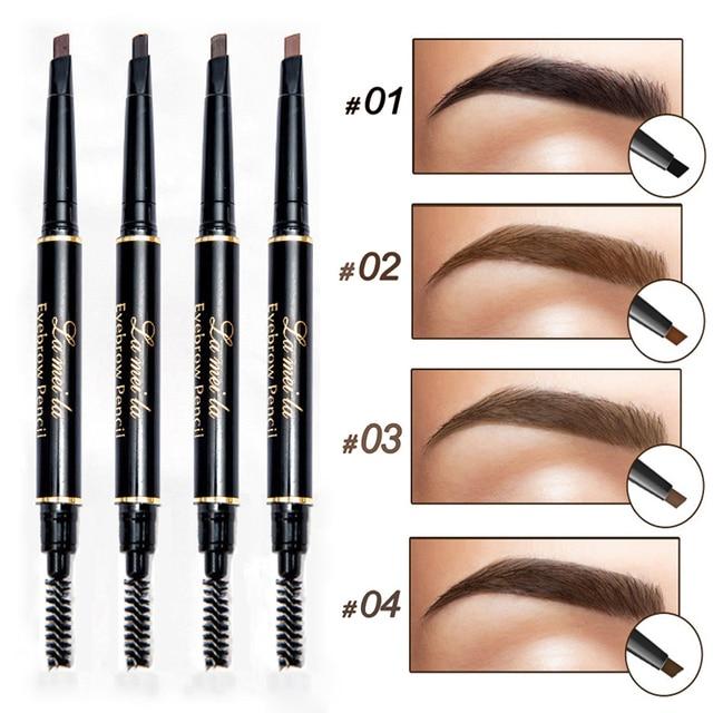 New Brand Eye Brow Tint Cosmetics Natural Long Lasting Paint Tattoo Eyebrow Waterproof Black Brown Eyebrow Pencil Makeup 2