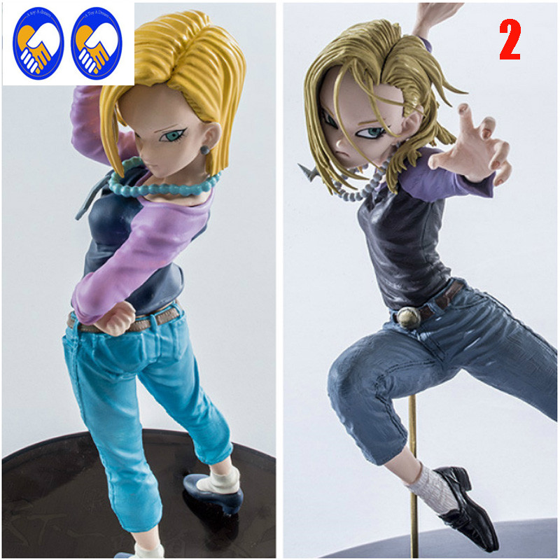 A Toy A Dream Original Dragon Ball Z&Super Android 18 lazuli anime cartoon action & toy figures Collection model toy dragon ball z sexy android 18 lazuli action figure pvc classic collection anime dragon ball model toy garage kit doll 19cm