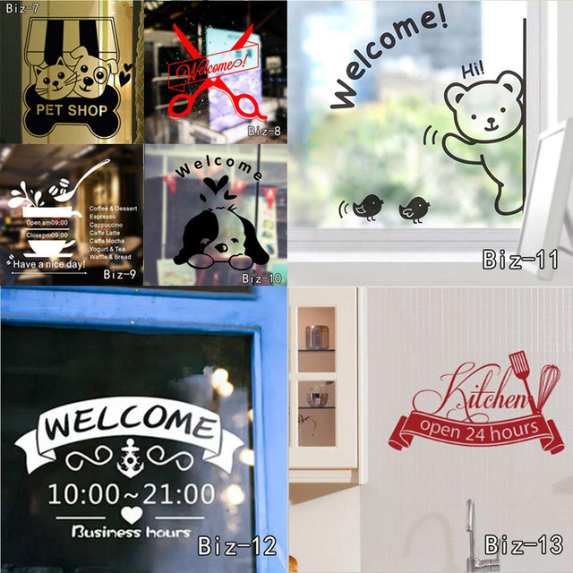Free wifi and welcome vinyl sticker decal sign for door and shop excellent quality store glass