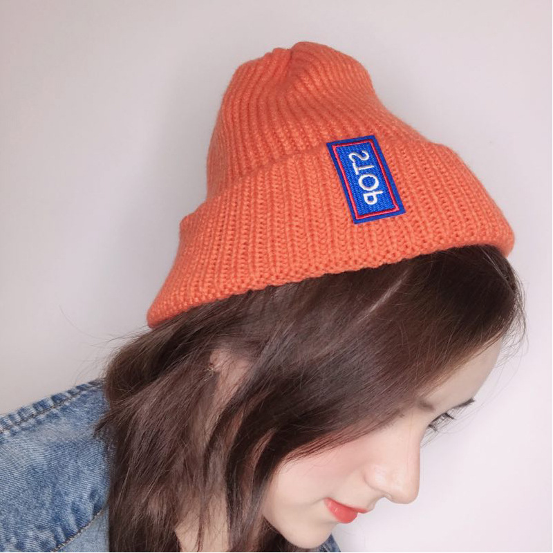 ROSASSY Cotton Letter Knitted Beanies Hats for Women Men Hot Trendy Casual Warm Winter Hip Hop Beanie Cap Hats Drop Ship
