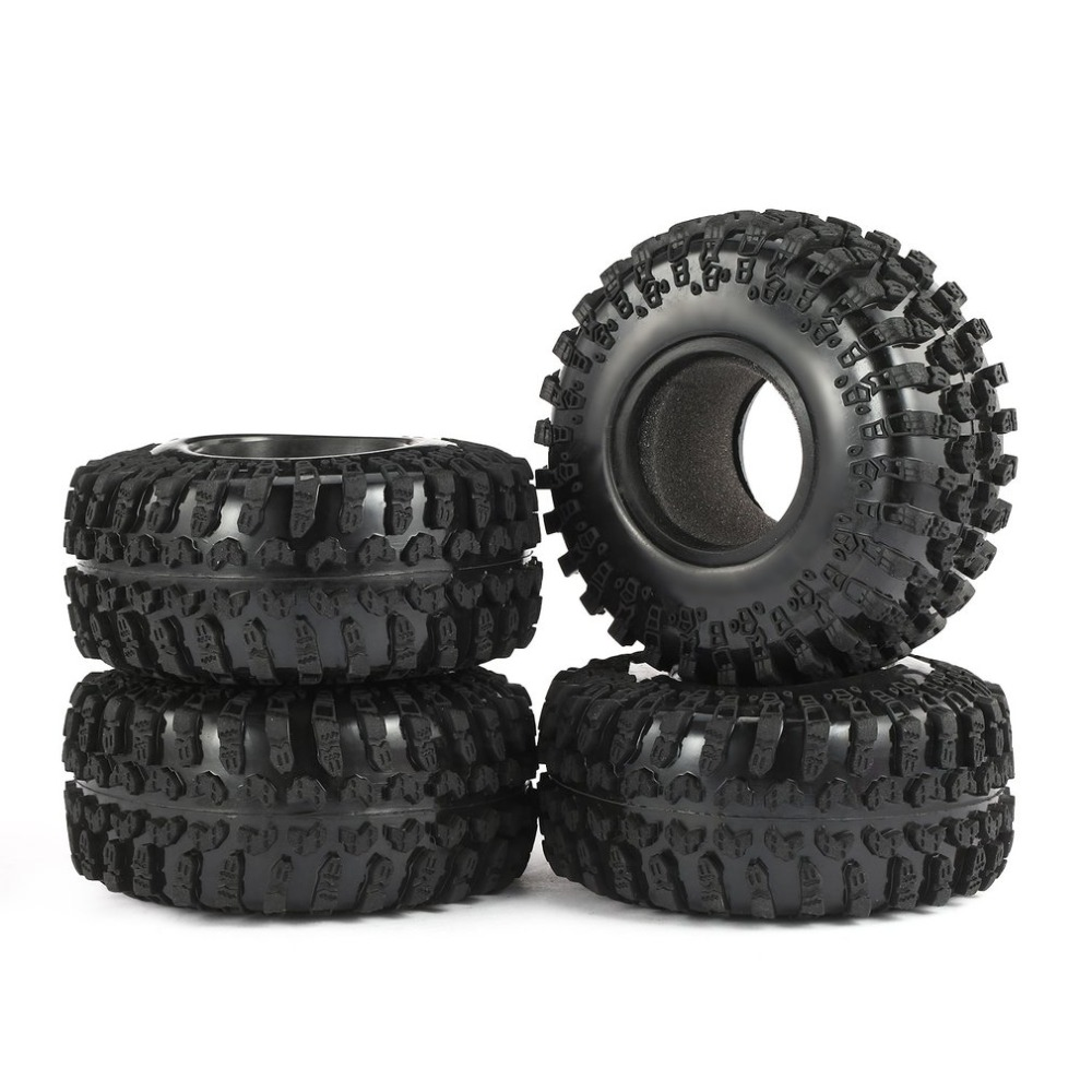 4pcs <font><b>RC</b></font> Austar AX-3021 <font><b>2.2</b></font> Inch Rubber <font><b>Tire</b></font> Tyre Set for 1/10 Axial SCX10 RR10 Wraith 90056 90045 <font><b>RC</b></font> Rock <font><b>Crawler</b></font> Truck image
