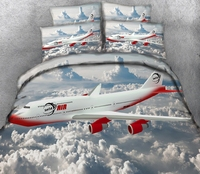 Cloud plane 3d effect photo bed linen can be customized photo pattern