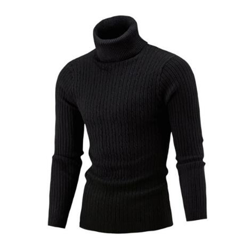 NEW 2020 Winter Mens Fashion Sweaters And Pullovers Men Brand Sweater Male Outerwear Jumper Knitted Turtleneck Sweaters M-XXL