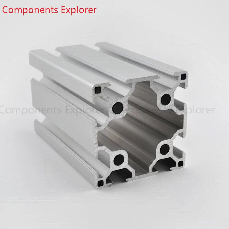 Arbitrary Cutting 1000mm 6060 Aluminum Extrusion Profile,Silvery Color.