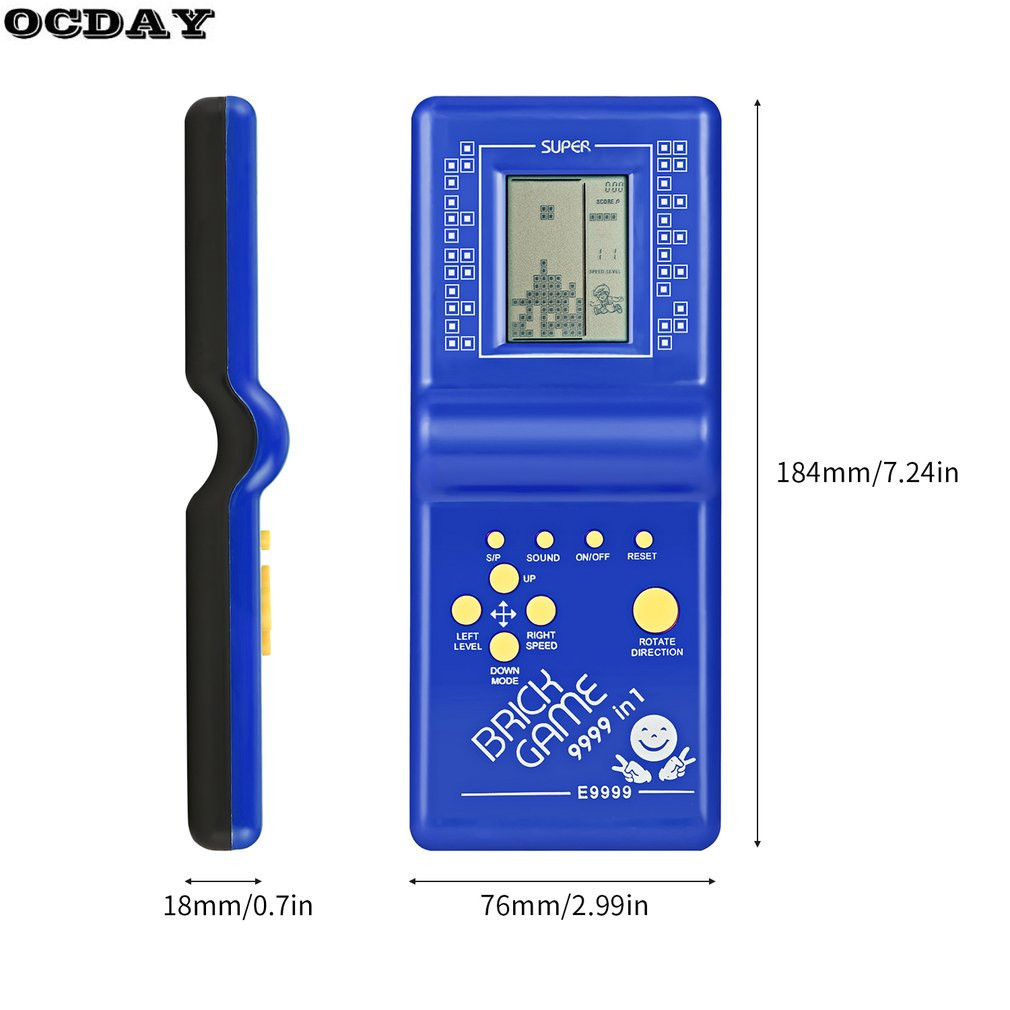 OCDAY Tetris Brick Game Classic Handheld Machine Retro LCD With Music Playback Educational Toys For Children In Learning Machines From