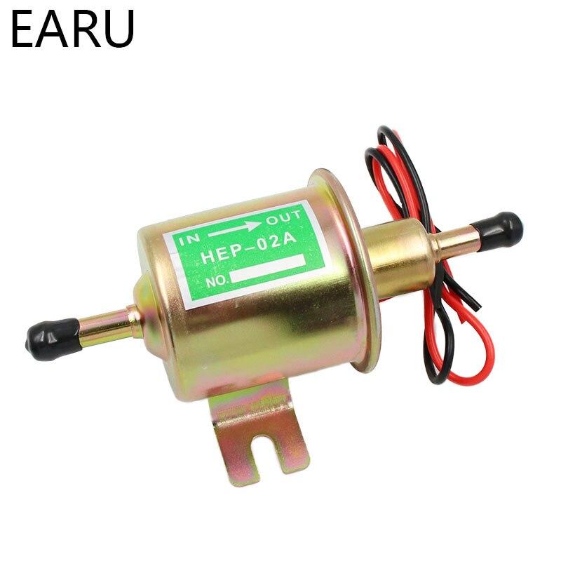 Low Pressure Electric Fuel Pump Diesel Gas Fuel Oil HEP-02A Universal Car 12V US