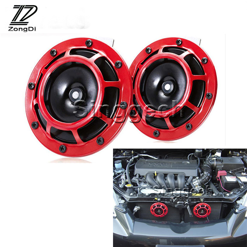 ZD 2X Car styling For Renault Megane 2 3 Duster VW Touran Passat B6 Golf 7 T5 T4 Fiat 500 Air Horn alarm loudspeaker Blast Tone