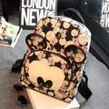 Free Shipping Hot Women's Casual  Cartoon Mickey PU Leather Backpacks Travel Bag School Bags For Teenager Girls Ladies Mochila