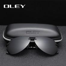 OLEY Brand Polarized Sunglasses Men Classic pilot sun glasse