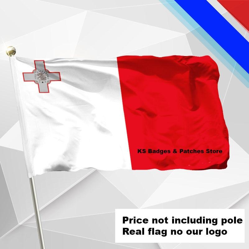 Malta Fliegen Flagge #4 144x96 #1 288x192 #2 240x160 #3 192x128 #5 96x64 #6 60x40 #7 30x20 Ks-0112-c 3x5ft