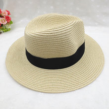 2019 simple Summer Parent-child Beach Hat Female Casual Panama Lady  Brand Women Blogger Flat brim Bucket cap men Sun