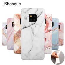 For Huawei Mate 20 Pro Case Marble Phone Cases Cover for Huawei Mate 20 Lite Fundas with Grip Stand Holder Matte Silicone Coques