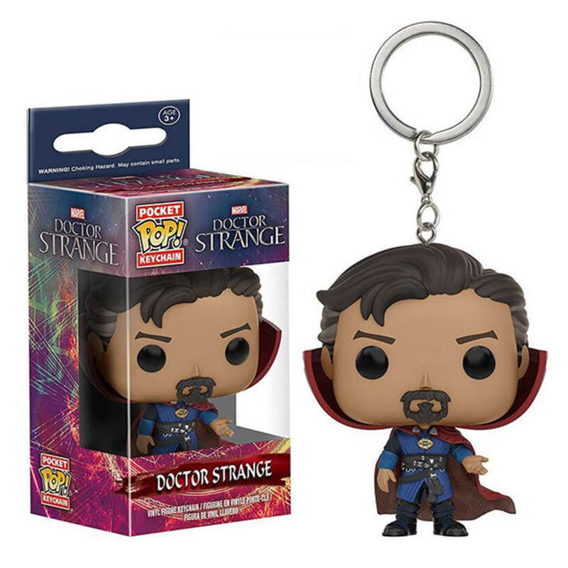 FUNKO POP New Bolso Keychain Pop Oficial Personagens da Marvel Avengers Action Figure Collectible Modelo Brinquedos de Natal