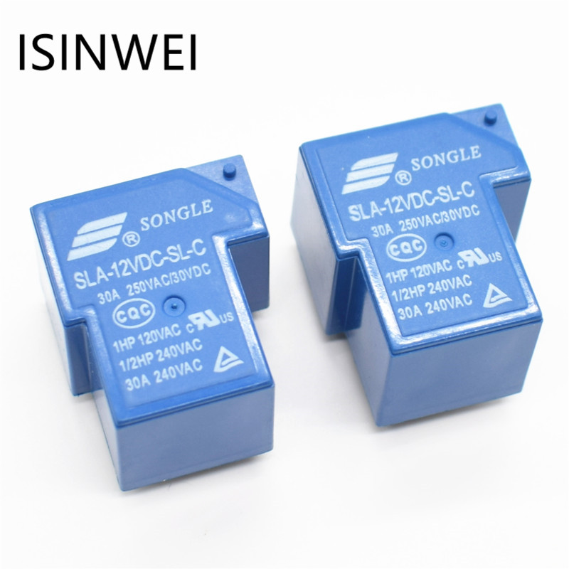 Power relay SLA-12VDC-SL-C 6 pin current 30A T90 SONGLE Relays