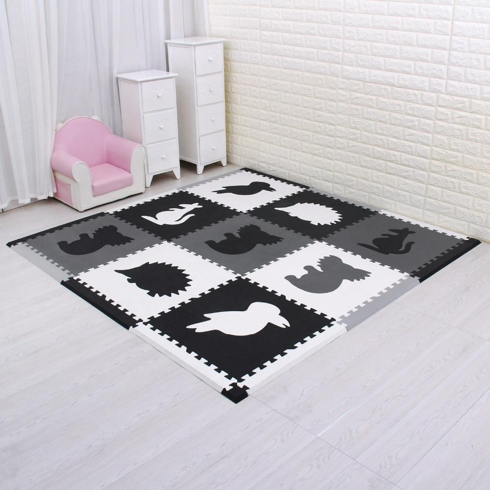 Meiqicool qualité 60*60 CM bébé EVA tapis de sol enfants jouer jeu Pad bébé ramper Puzzle tapis Eva mousse tapis 1.5 cm