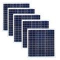 5 шт.  водонепроницаемая солнечная панель  40 Вт  солнечное зарядное устройство  солнечная батарея  Paneaux Solaire 200 Вт  открытый бассейн  сад  крыша ...