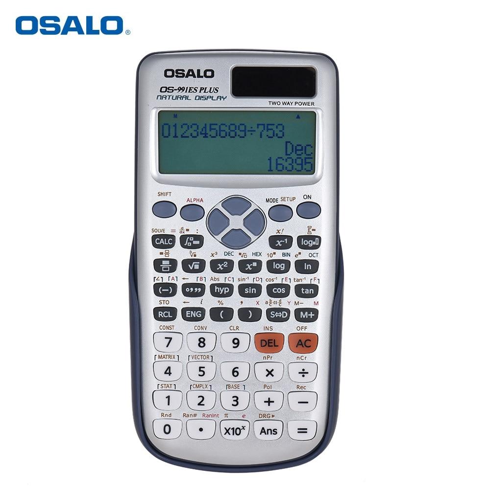 82ms Portable 2 Baris Display Lcd Digital Kalkulator Ilmiah Deli 240f Scientific Calculator 10 Digits E1710 Sains Osalo Os 991es Plus Cientific Rekayasa Dual Power Supply Calculadora Dengan 417