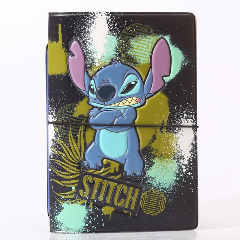 Cartoon Blue Stitch Passport Cover Wallets Bag Women Travel Accessories ID Address Holder Portable PU Leather Boarding Card Case