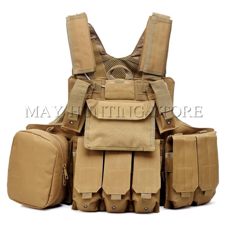 ФОТО Hunting Tactical Military Airsoft Heavy Duty Molle Vest Combat Tactical Gear Adjustable Vest