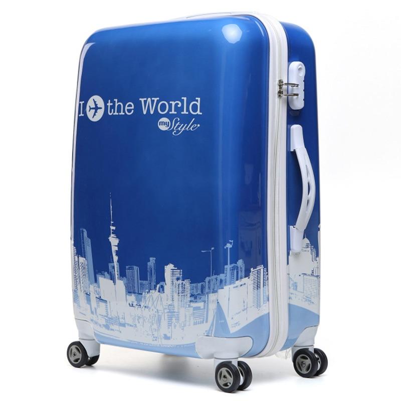 Hecho en China estilo Simple de aluminio 100% frame20/24 pulgadas de tamaño de alta calidad equipaje rodante Spinner de maleta de viaje - 2